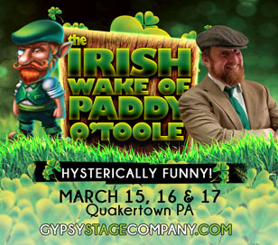 THE IRISH WAKE OF PADDY O'TOOLE in Smoke & Mirrors Magic Theater