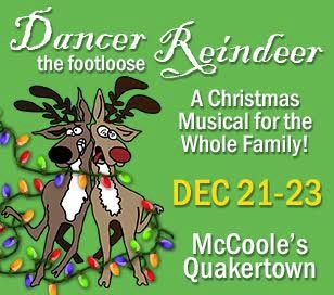 MUSICAL COMEDY: We always hear about Rudolph THIS! or Rudolph THAT! Just because Rudolph saved the day ONCE... Everybody tends to forget about the eight ORIGINAL reindeer. Well?... They're not putting up with it anymore and DANCER is championing the cause. However, he may have taken things a bit too far. His mischief gets out of hand and he manages to back himself into a corner. Now, this wouldn't be so bad except for the fact that he takes everybody down with him. Especially Ralph, the Elf Manager. Because of all the chaos, Ralph accidentally clobbers Santa on the head. Santa winds out with amnesia and has no interest at all in climbing into a sleigh and delivering toys on Christmas Eve. Ralph, of course, thinks his career will be over as soon as Santa regains his memory and realizes what he's done. Whatever will we do??? Is Christmas doomed??? Come see this delightful Christmas musical with the whole family and find out with us!